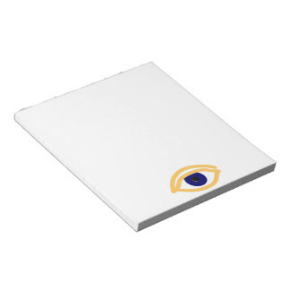 blaues Auge blue eye Notepad