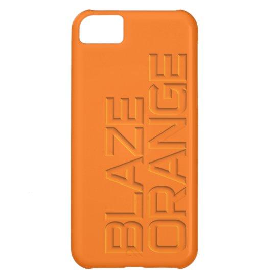 BLAZE ORANGE Hunter Safety iPhone 5C Case