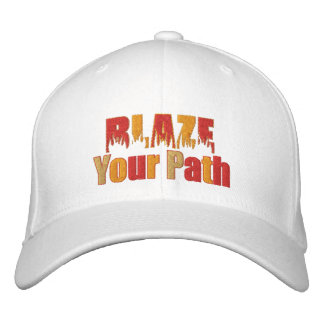 Blaze Your Path Fire Embroidered Cap Embroidered Baseball Cap