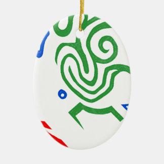 Blazin' Amazing Alien Green Christmas Ornament