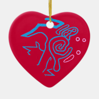 Blazin' Amazing Cosmic Blue Ceramic Heart Decoration