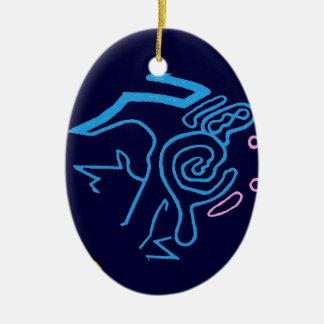 Blazin' Amazing Cosmic Blue Christmas Ornament