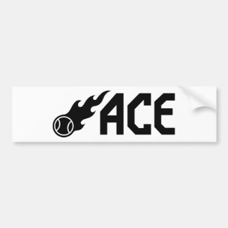 Blazing ACE Tennis Bumper Sticker