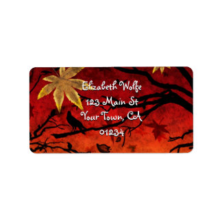 'Blazing Autumn' Label Address Label