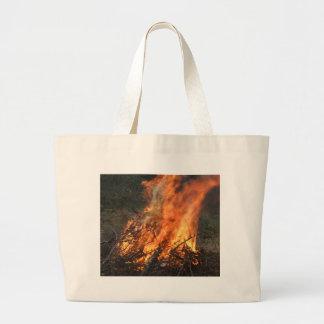 Blazing Bonfire Jumbo Tote Bag