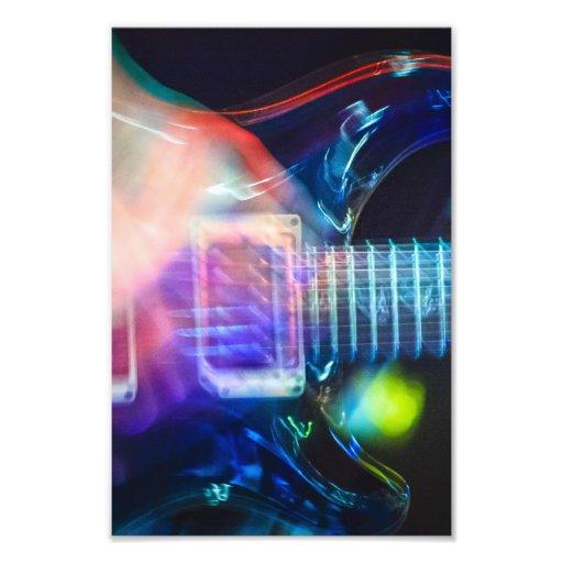 Blazing Electric Guitar Photograph