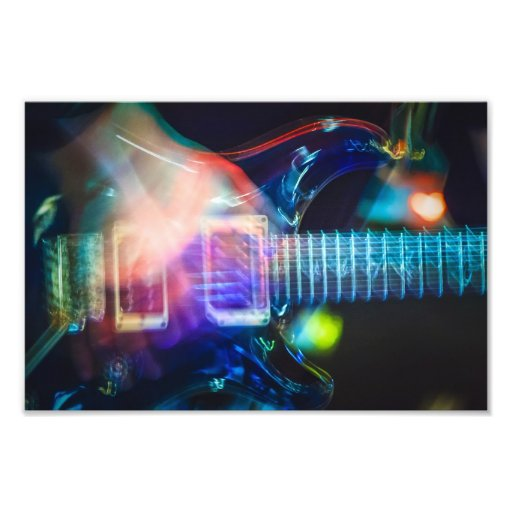 Blazing Electric Guitar Photo