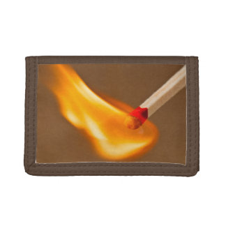 Blazing flame trifold wallets
