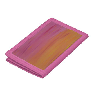 Blazing Orange and Pink Wallet