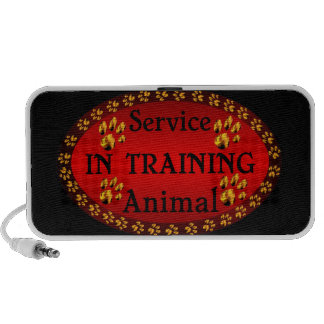 Blazing Paws Service Animal in Training Doodle Mini Speaker