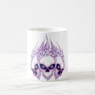 Blazing Purple Skull Mug