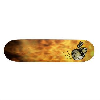 Blazing Skull Skateboard