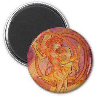 Blazing Solaris 6 Cm Round Magnet