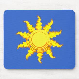 Blazing Summer Sun Mouse Pad
