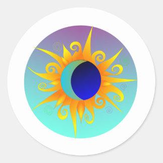 Blazing Sunmoon Round Sticker