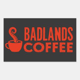 BLC Logo & Text Sticker, black, landscape Rectangular Sticker