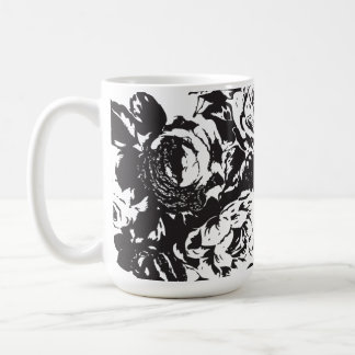 Blck Rose Coffee Cup - 440ml Mugs