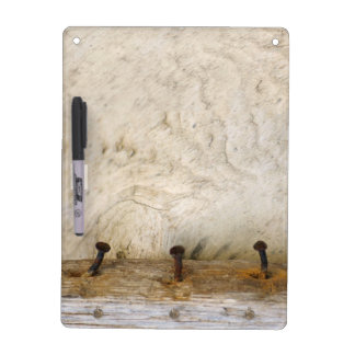 Bleached Old White Wood with Nails Photo Dry Erase Board