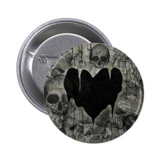 Bleak Heart Gothic Valentine 6 Cm Round Badge