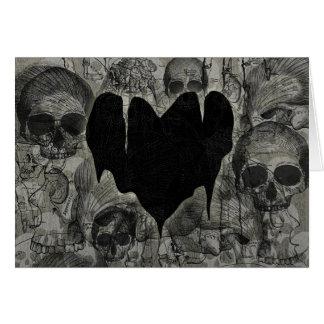 Bleak Heart Gothic Valentine Greeting Card