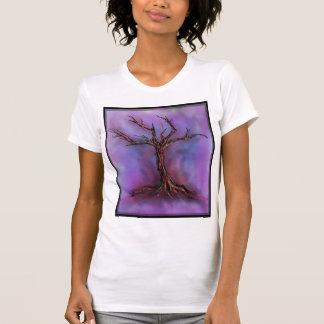 bleak purple tree t-shirt
