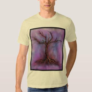 bleak purple tree tee shirt