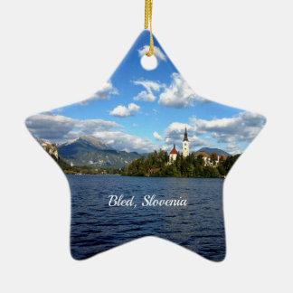 Bled, Slovenia--landscape photograph Christmas Ornament