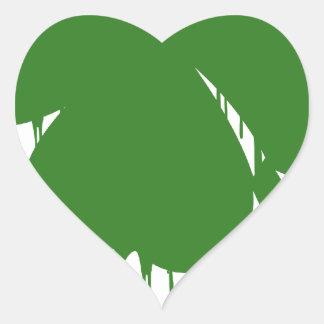 Bleed Green Heart Sticker