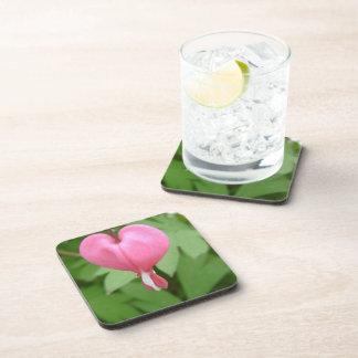 Bleed Heart Blossom Cork Coasters