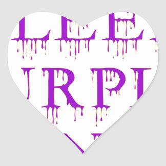 Bleed_Purple&Gold Heart Sticker