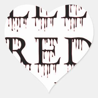 Bleed_Red&Black Heart Sticker