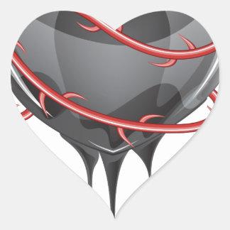 Bleeding Black Heart Heart Sticker