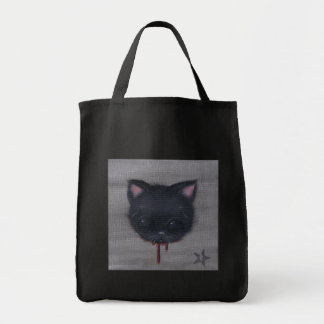 bleeding cat tote bag