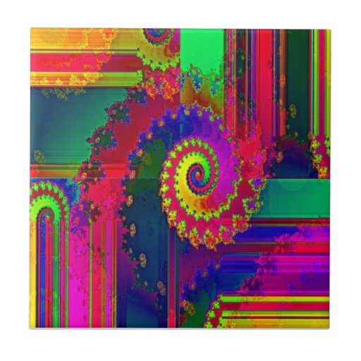 Bleeding Colors Fractal Tiles