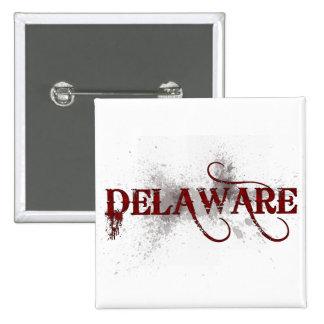 Bleeding Grunge Delaware Button