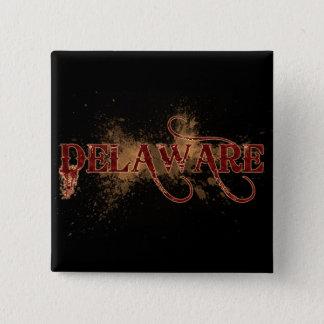 Bleeding Grunge Delaware Button Dark