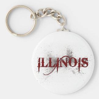 Bleeding Grunge Illinois Keychain