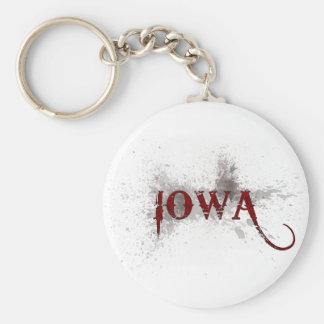 Bleeding Grunge Iowa Keychain