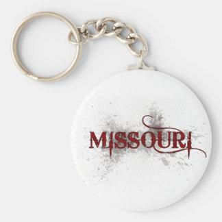 Bleeding Grunge Missouri Keychain