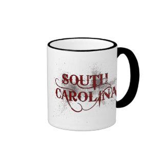 Bleeding Grunge South Carolina Mug