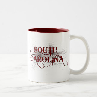 Bleeding Grunge South Carolina Mug Red