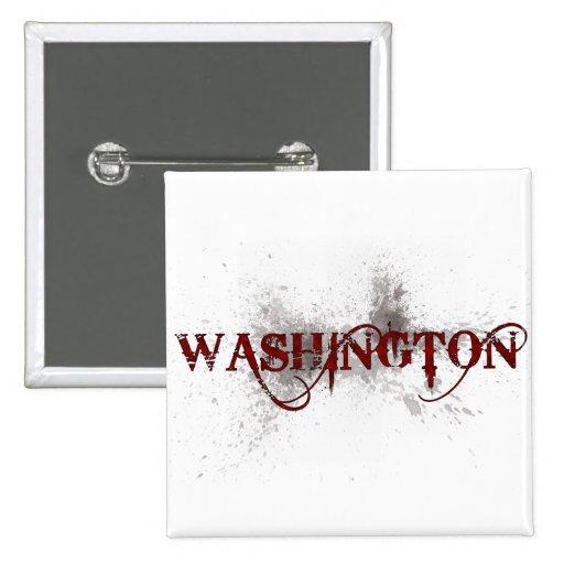 Bleeding Grunge Washington Button