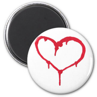Bleeding Heart 6 Cm Round Magnet