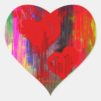 Bleeding Heart Abstract Heart Sticker