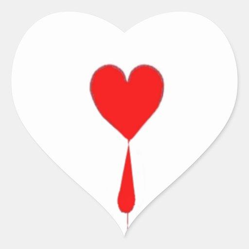 Bleeding Heart  Ace Card by Sharles Heart Sticker