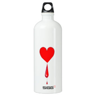 Bleeding Heart Aces Card by Sharles SIGG Traveler 1.0L Water Bottle
