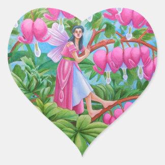 Bleeding Heart Fairy Heart Sticker