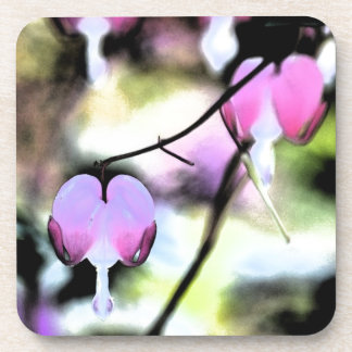 Bleeding Heart Floral Coaster