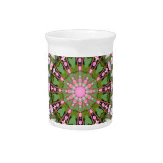 Bleeding heart, Floral mandala-style Beverage Pitcher