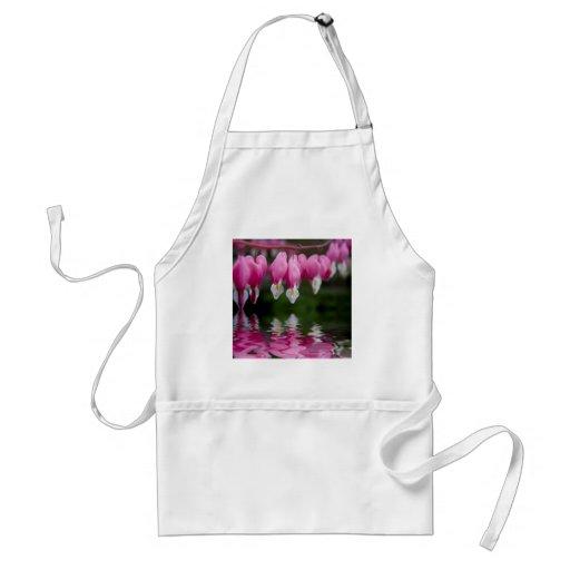 bleeding heart flower apron